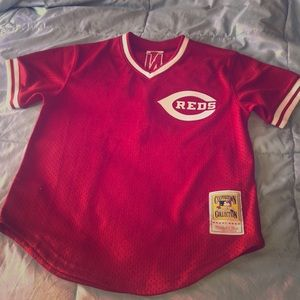 Men's Johnny bench authentic baseball jersey